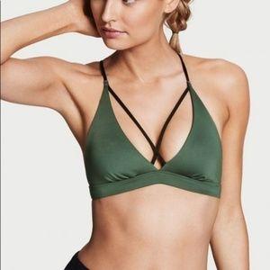 NWOT! Victoria Secret Sports Bra in Army Green